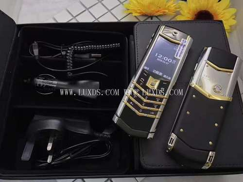 Vertu Signature S Silver with yellow gold
