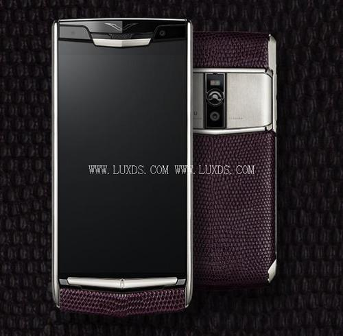 Vertu New Signature Touch Purple Lizard Leather